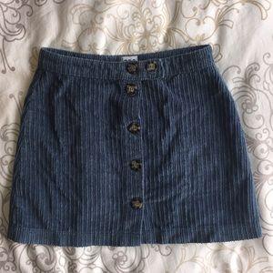 UO Jumbo Corduroy Button-Down Mini Skirt Small
